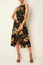 Harlinne Floral Shirt Dress