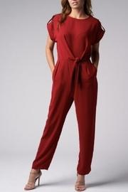 Front-tie Jumpsuit Red