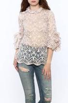 Blush Crochet Lace Top