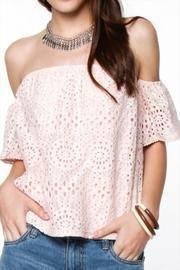 Lace Blush Off Shoulder