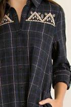 Charcoal Plaid Tunic