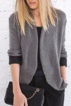 Cuffed Knit Blazer