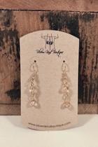 Beige Beaded Earrings
