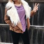 Faux Fur Collar Jacket