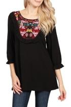 Ethnic Pattern Tunic Top