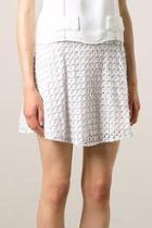 Eyelet Embellished Mini Skirt