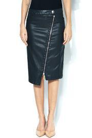 Cop Copine Leather Zipper Pencil Skirt