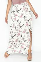 Spaced Floral Maxi Skirt