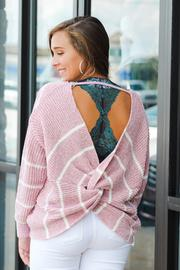 Rosey Cheeks Twist Back Sweater