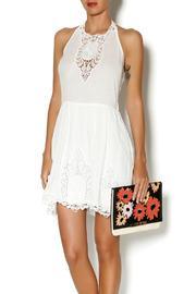 Lulumari White Crochet Dress