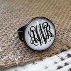 Monogrammed Ring