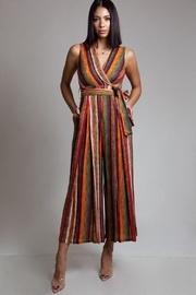 Multi-colored Stripe Jumpsuit