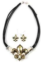 Fleur-de-lis Necklace Earrings