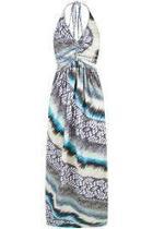 Natural Sleeveless Maxi Dress