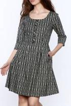 Grey Print Knee Dress