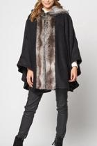 Fauxfur Fleece Cape