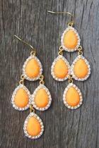 Peach Chandelier Earrings