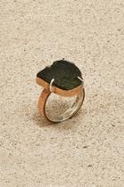 Copper Moldavite Ring