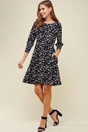 Black Leopard Dot Pocket Dress