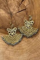 Hand-chrocheted Crystal Earrings