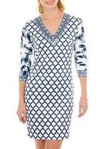 Vneck Jersey Dress