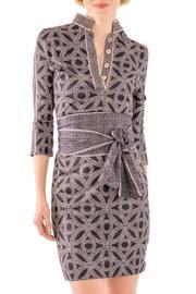 Mandarin 3/4 Sleeve Dress - Hooplah