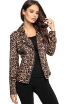 Leopard Zip-up Jacket