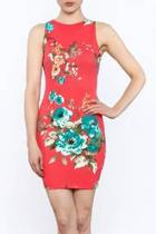 Floral Sleeveless Bodycon Dress