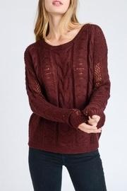 Wine Round-neck Sweater