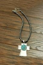 Natural-turquoise Western-pearl Necklace