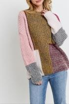 Colorblock Patched Sweater