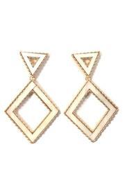 Geometric Abalone Earrings