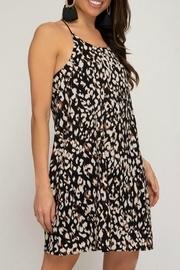 Animal-print Halter Dress