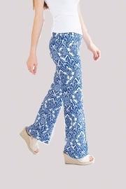 Blue Medallion Stretch Flare Pants