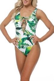 Palm Lace-up Swimsuit