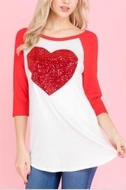 Sequins Heart Top