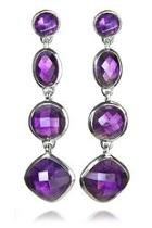 Geometric Amethyst Earrings
