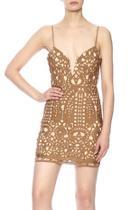 Tan Crochet Dress