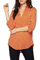 Orange Polkadot Tunic