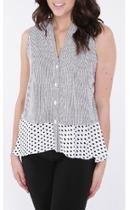 Stripe-polka Dot Shirt