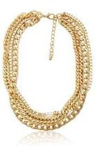 Gold Triple Chain Necklace