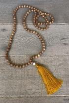 Wooden Tassel Necklace