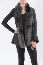 Faux Fur Vest Grey