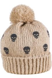 Mini Skull Pom Pom Beanie
