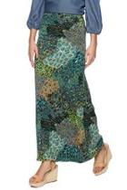 Teal Peacock Maxi Skirt