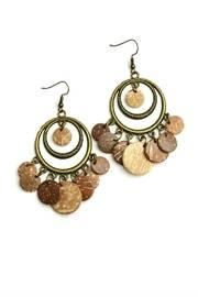 Brown Statement Earrings