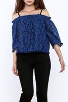 Royal Blue Lace Top