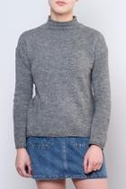 Mock Neck Pullover Top