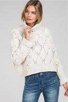 Cropped Turtleneck Pullover