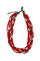 Red Recycled Necklace
